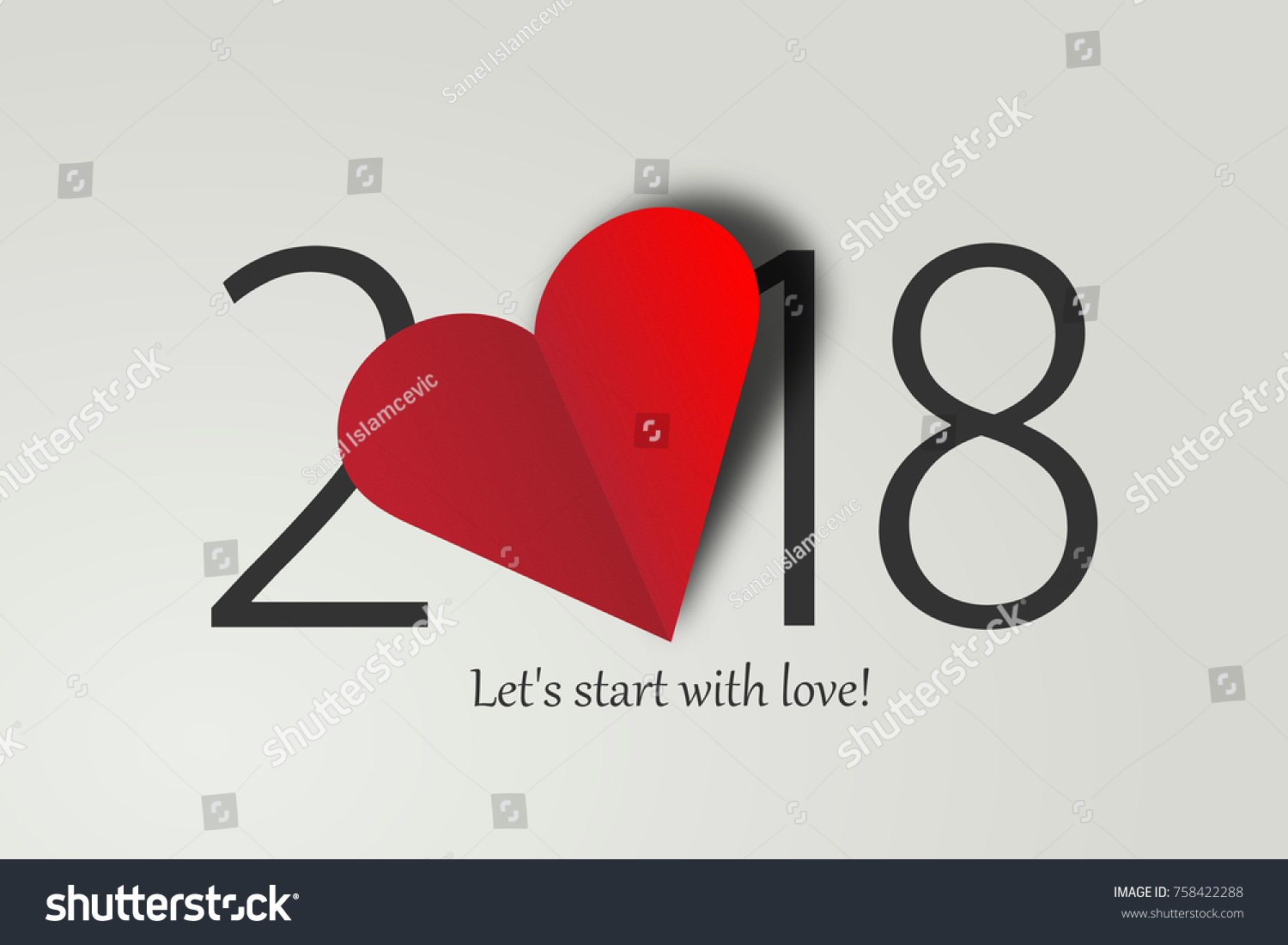 happy new year 2018 lets start with love