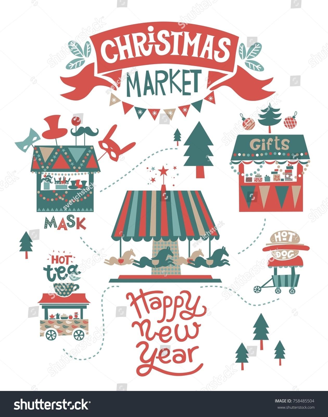 Happy Christmas Happy New Year Illustration Stock Vector (Royalty ...