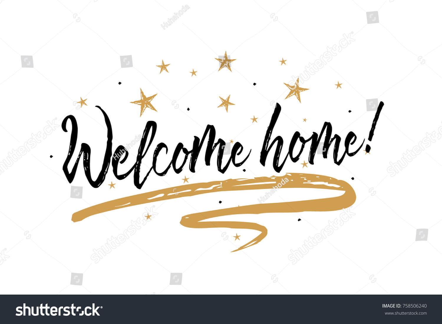 Welcome Home Card Beautiful Greeting Banner Stock Vector (2018 ...