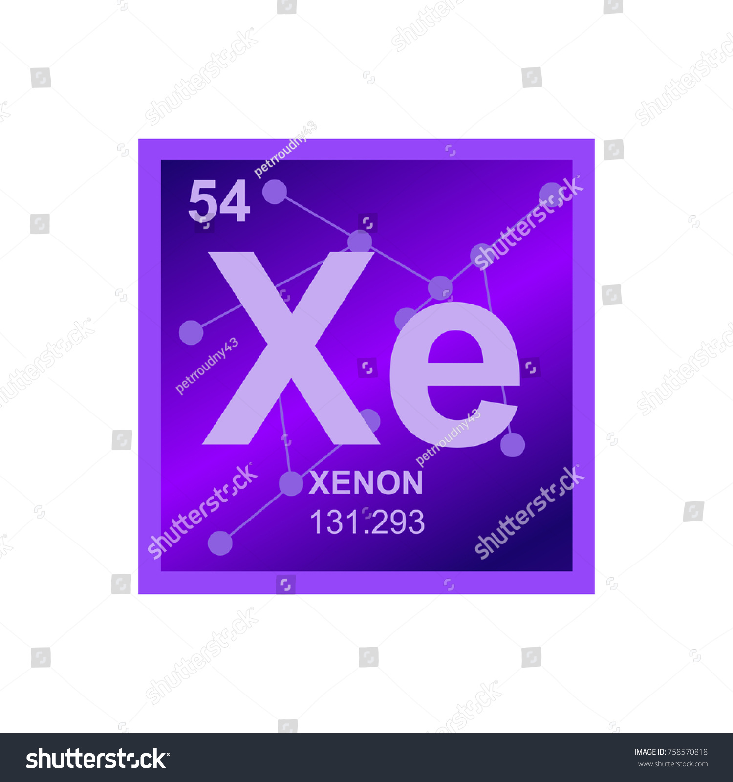 Vector symbol rare gas xenon periodic stock vector 758570818 vector symbol of a rare gas xenon from the periodic table of the elements on the gamestrikefo Images