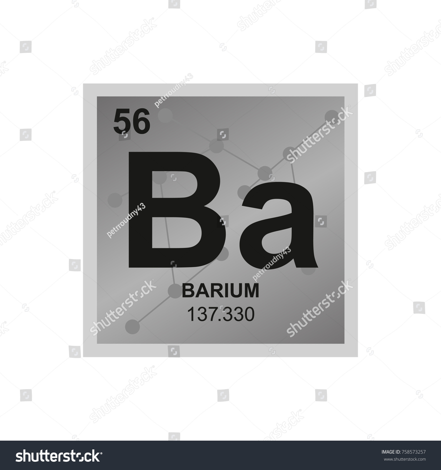 Vector symbol barium periodic table elements stock vector vector symbol of barium from the periodic table of the elements on the background from connected biocorpaavc Images