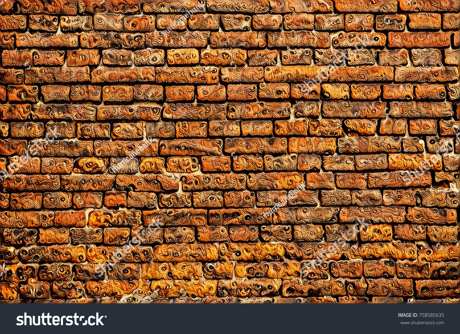 colorful stone brick wall background custom stock illustration 758585635 shutterstock. Black Bedroom Furniture Sets. Home Design Ideas