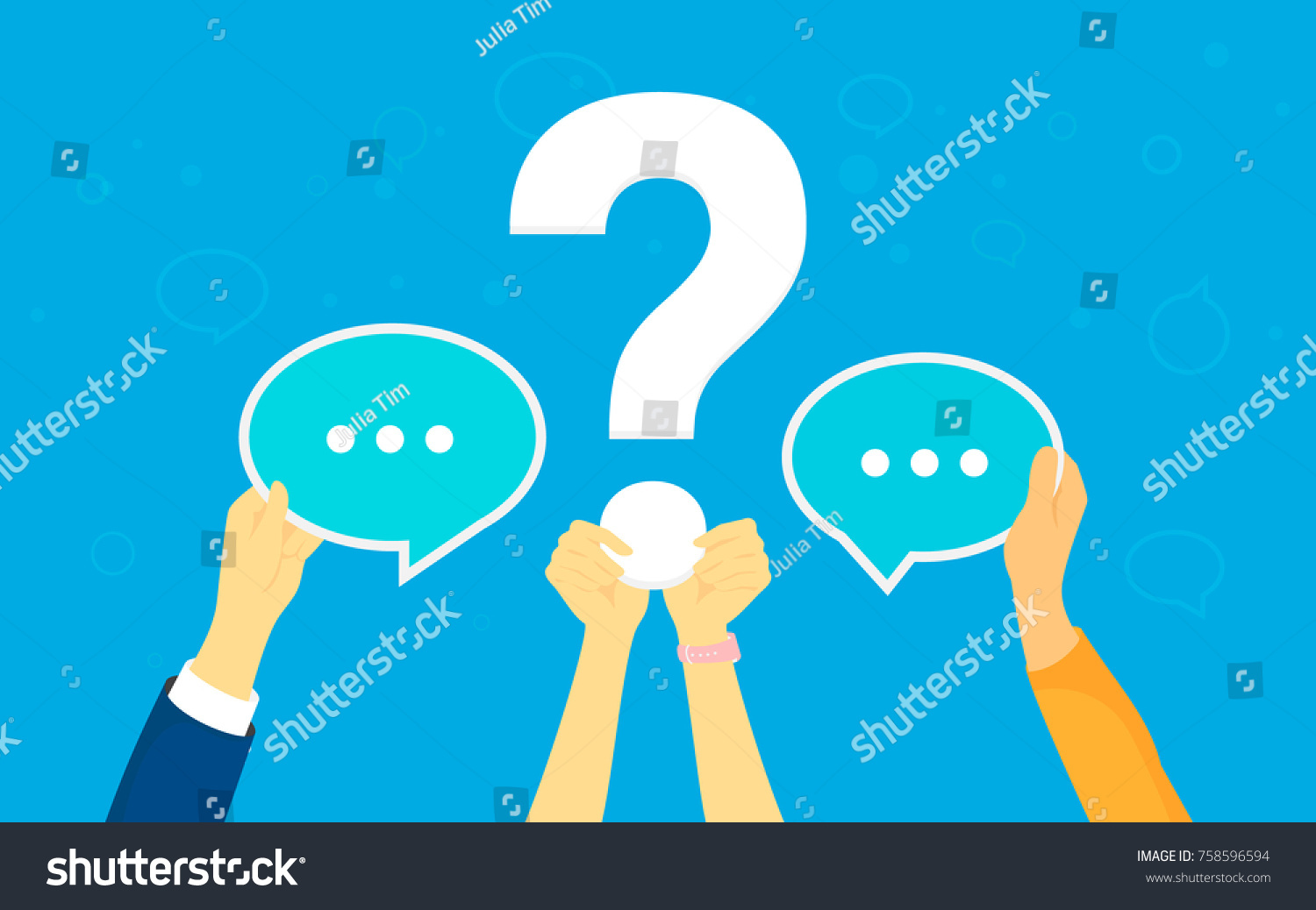Big question concept vector illustration texting stock vector big question concept vector illustration of texting to live chat asking for help via internet buycottarizona