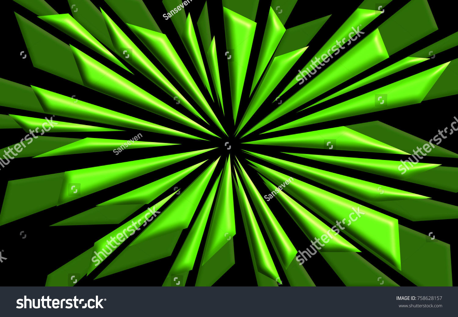 Shattered Neon Green Shapes Background