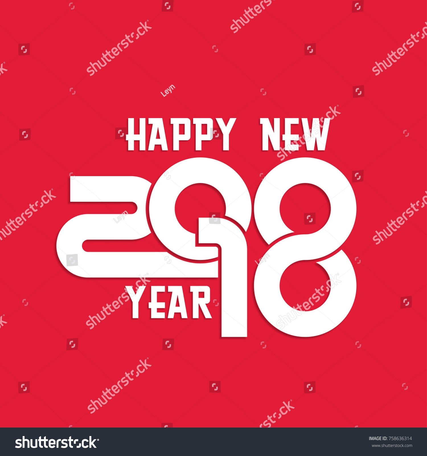happy new year 2018 background year of dog in flat style can be use for
