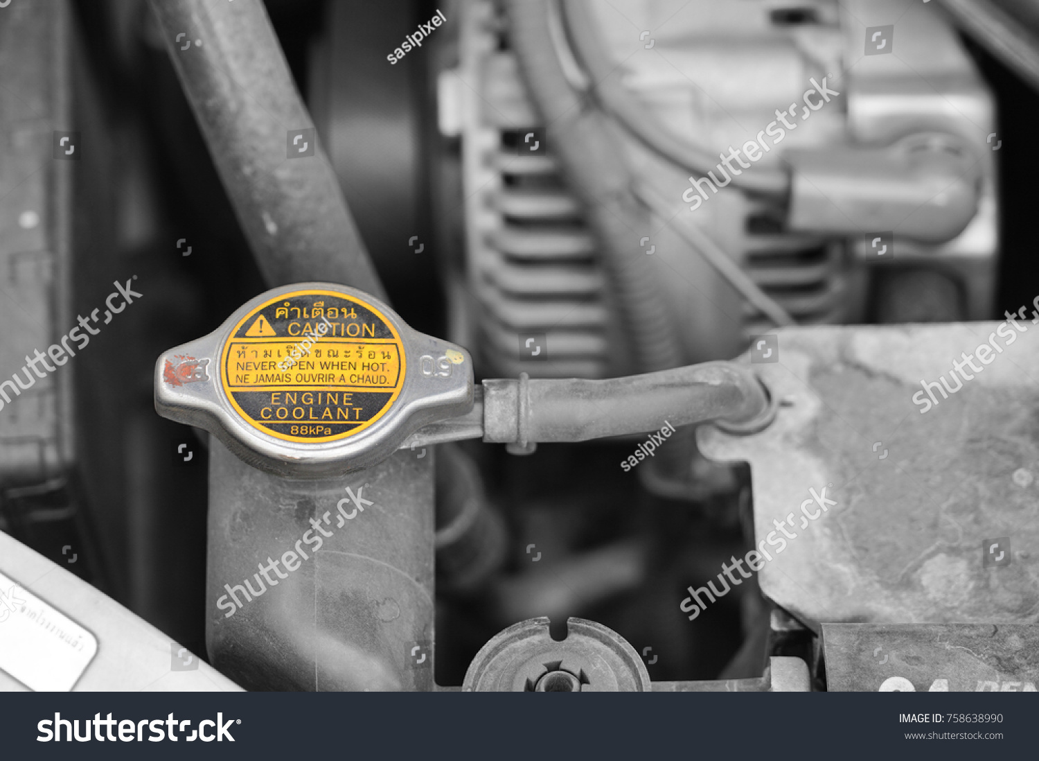 Coolant Checkup Automobile Dirty Engine Stock Photo Edit Now Vehicle