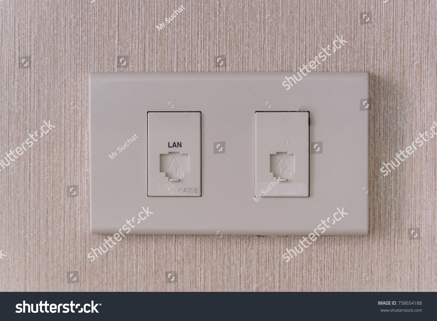 Switch Network cable and Switch Telephone install on the wall | EZ ...