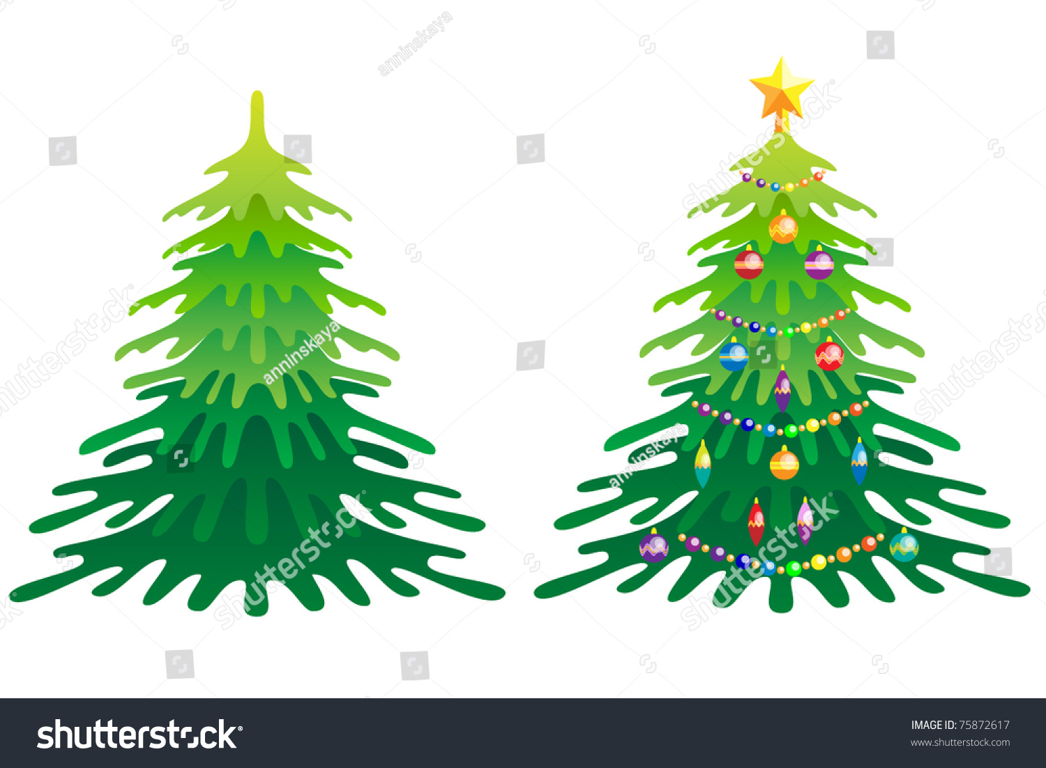 Christmas Tree Without Christmas Decorations And With