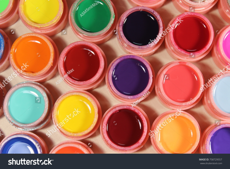 Bright Colors Nails Varnish Many Colors Stock Photo & Image (Royalty ...