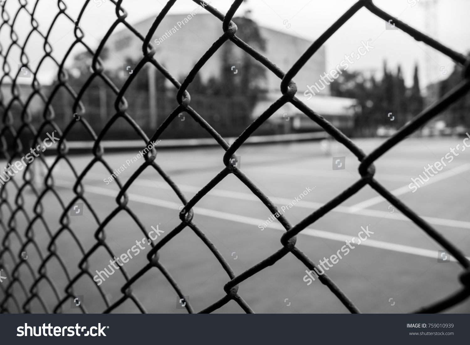 Black White Steel Wire Mesh Fence Stock Photo (Edit Now) 759010939 ...