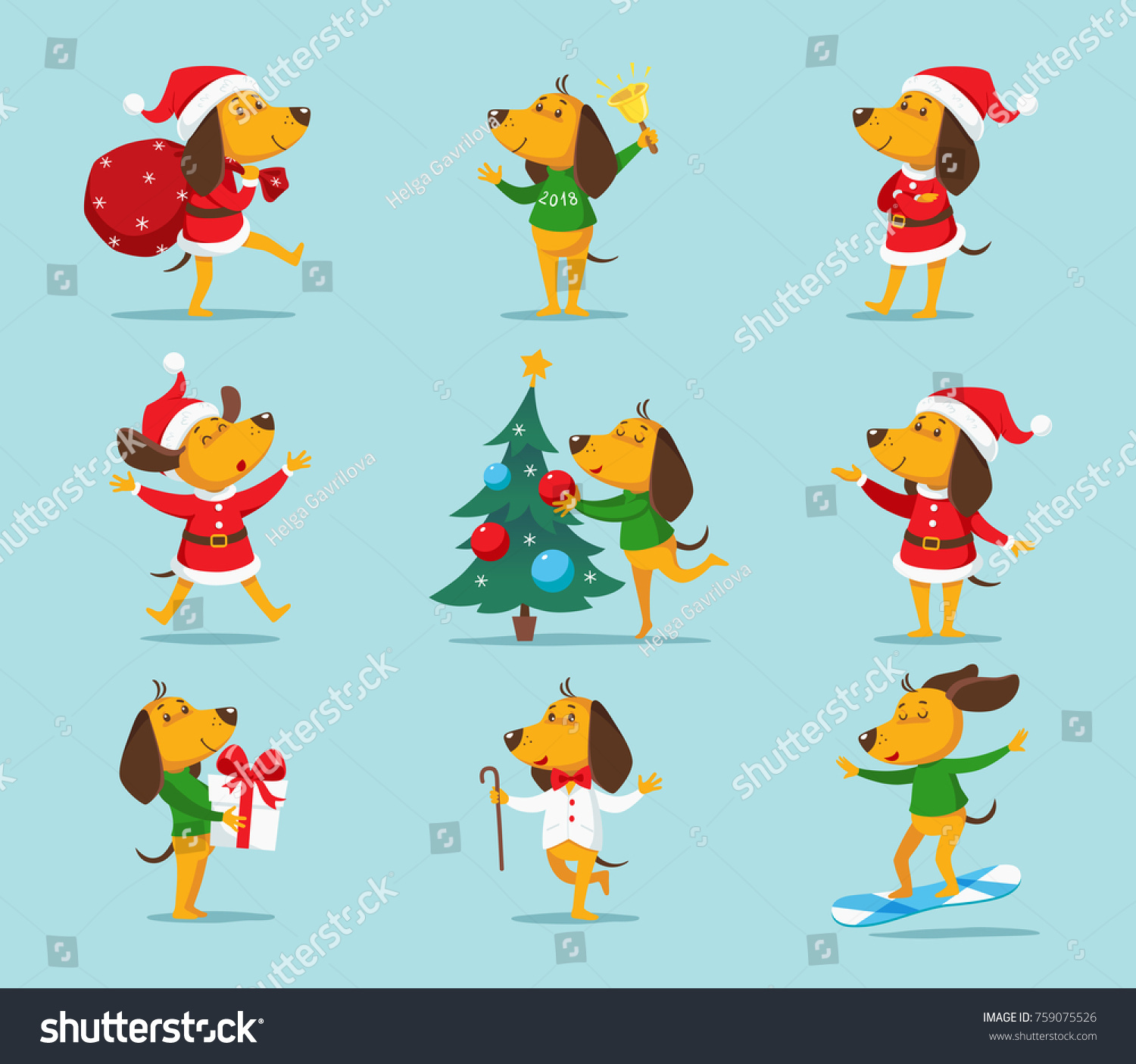 cute cartoon dog vector clipart funny puppy the symbol of new year 2018