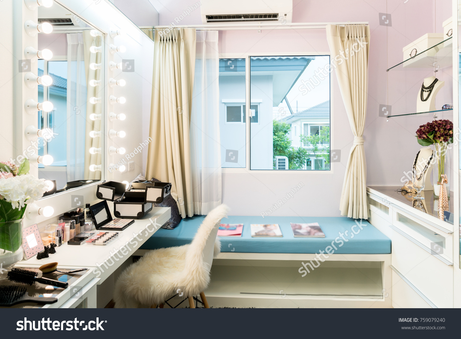 Modern Closet Room Makeup Vanity Table Stock Photo Edit Now 759079240
