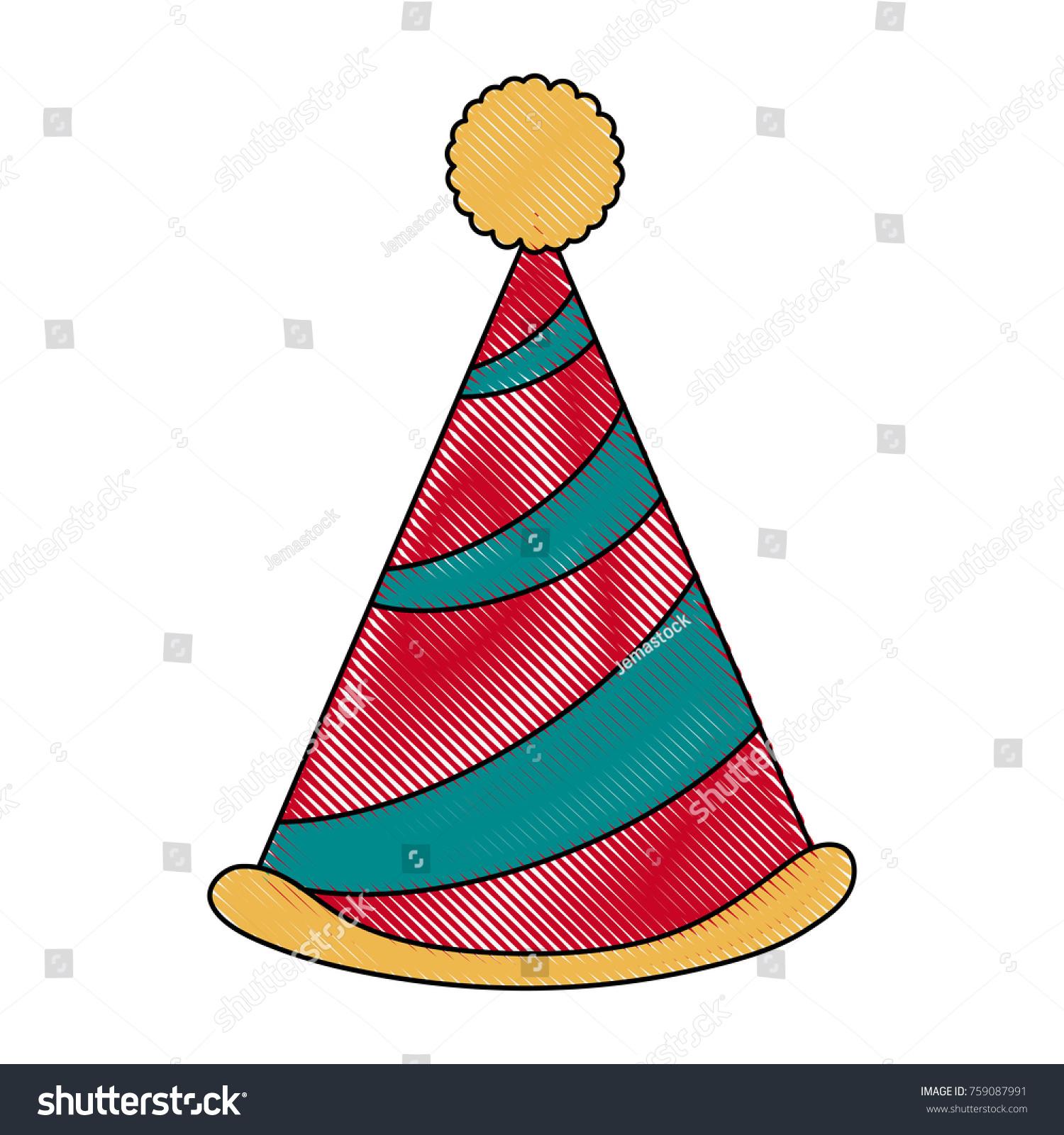Birthday Hat Symbol Stock Vector 759087991 Shutterstock