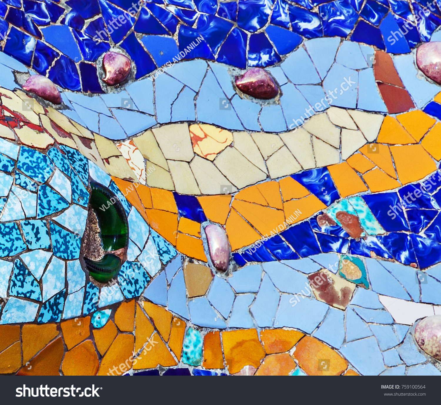Texture Mosaic Colored Ceramic Tile By Stock Photo 759100564 ...