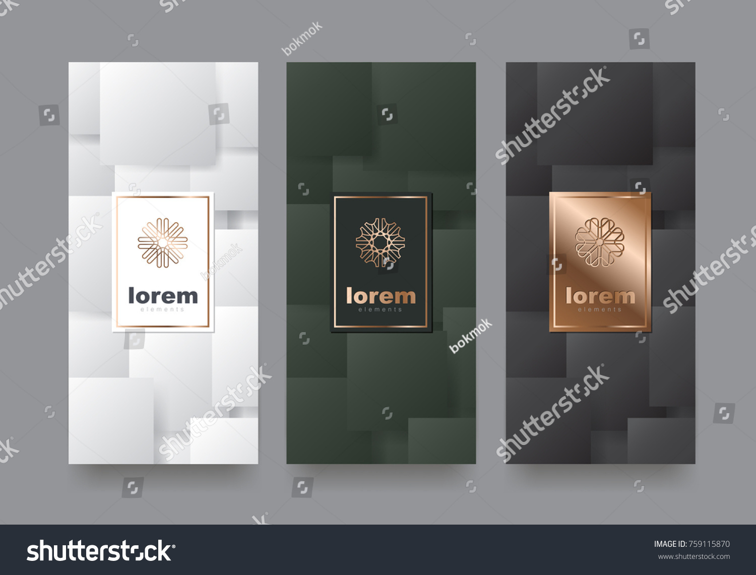 Vector Set Packaging Templates Different Texture Stock Photo (Photo ...