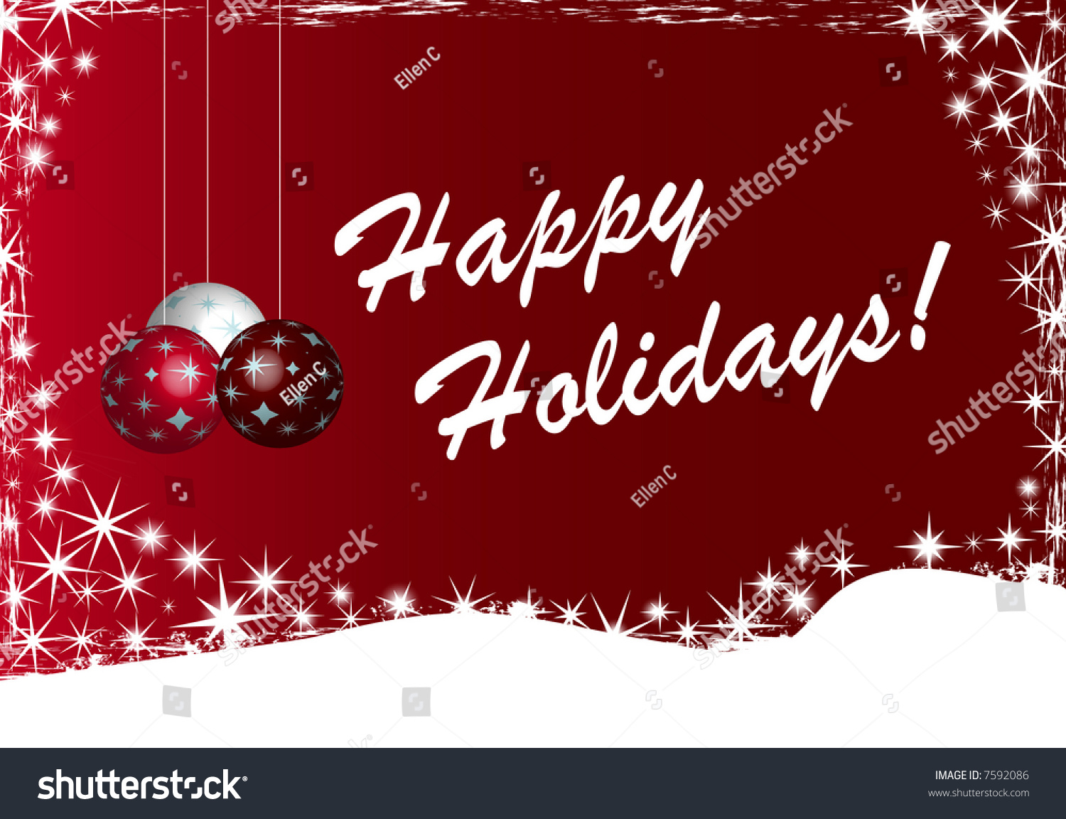Happy Holidays Greeting Design Stock Illustration 7592086 - Shutterstock