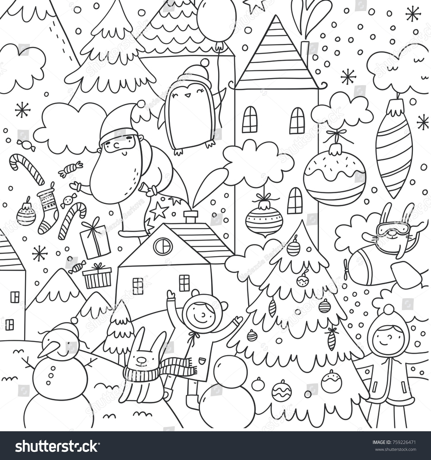 100 [ Happy New Year Coloring Page ]