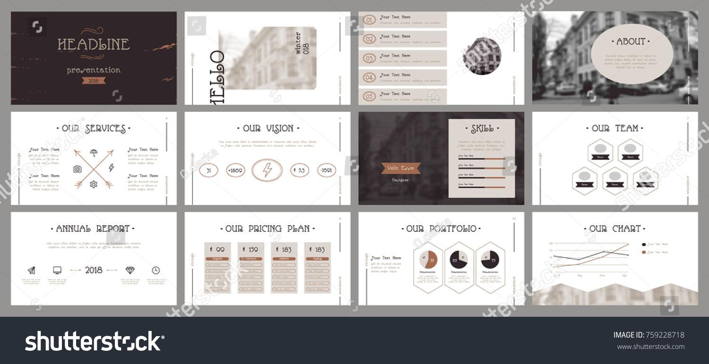 Vintage Presentation Templates Easy Use Creative Stock Vector HD ...
