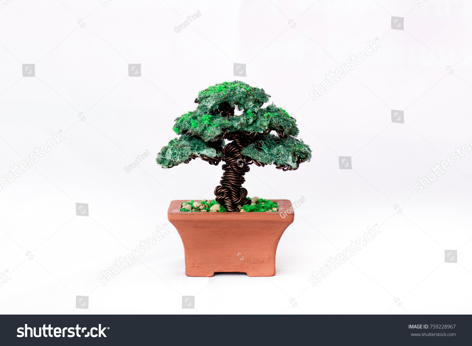 Handmade Tree Bonsai Making Wire Stock Photo Edit Now What Does Wiring A Do From On White Background
