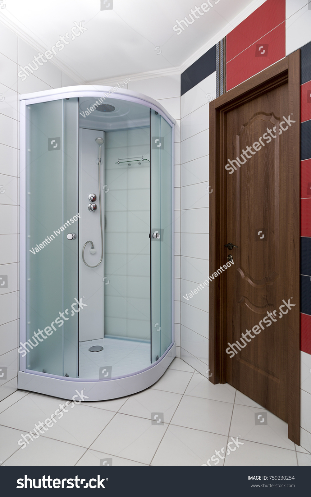 Bathroom interior with a new shower cubicle | EZ Canvas