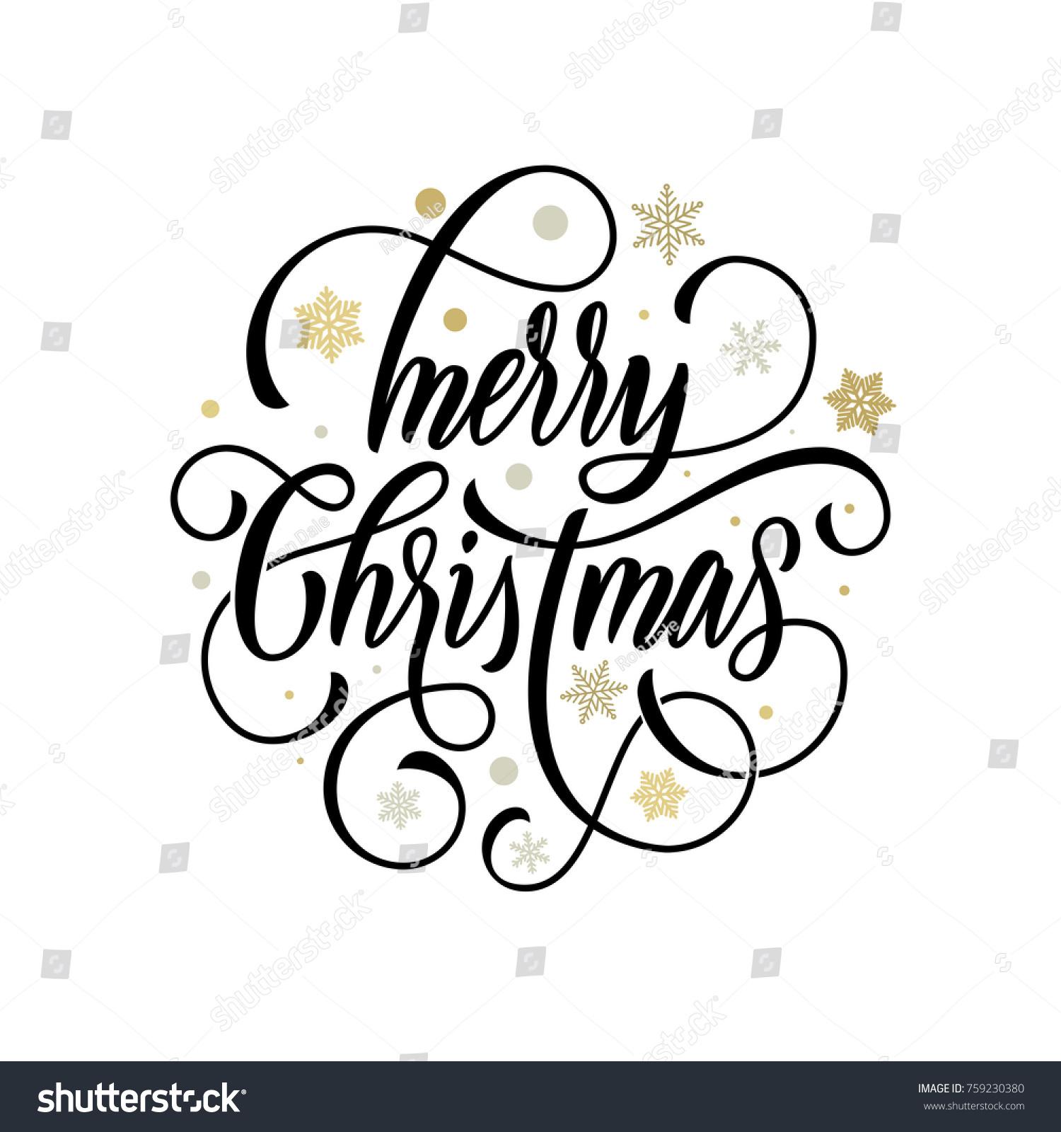 Merry christmas flourish hand drawn calligraphy immagine