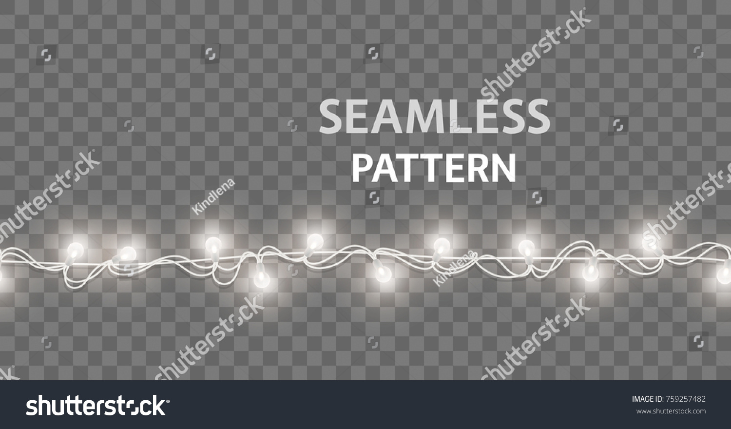 Lights Lamps Seamless Border Isolated On Transparent Background Vector Glowing Christmas Garlands String Bulbs Effect