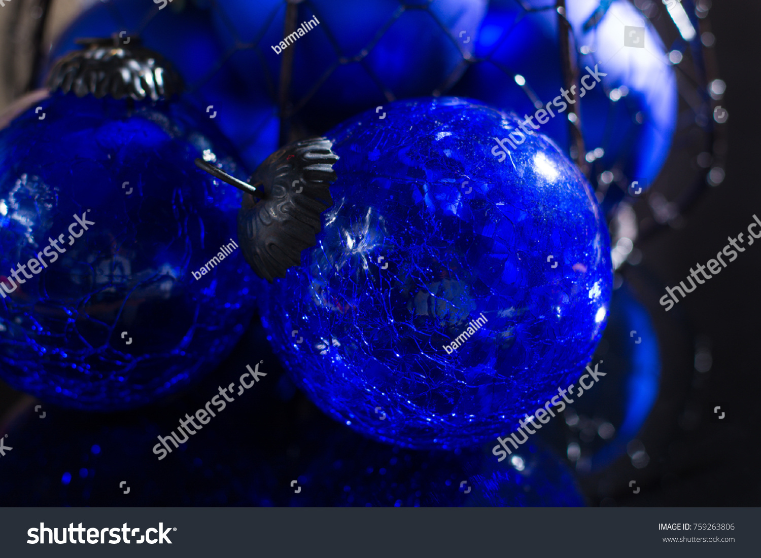 Old Vintage Cobalt Blue Christmas Tree Stock Photo Edit Now 759263806