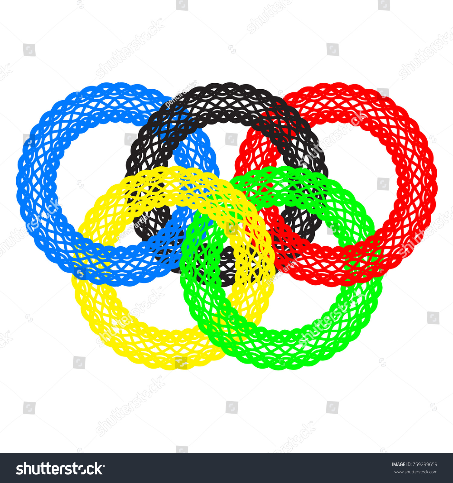 Lace olympic rings symbol olympics stock vector 759299659 shutterstock lace olympic rings a symbol of the olympics buycottarizona Image collections