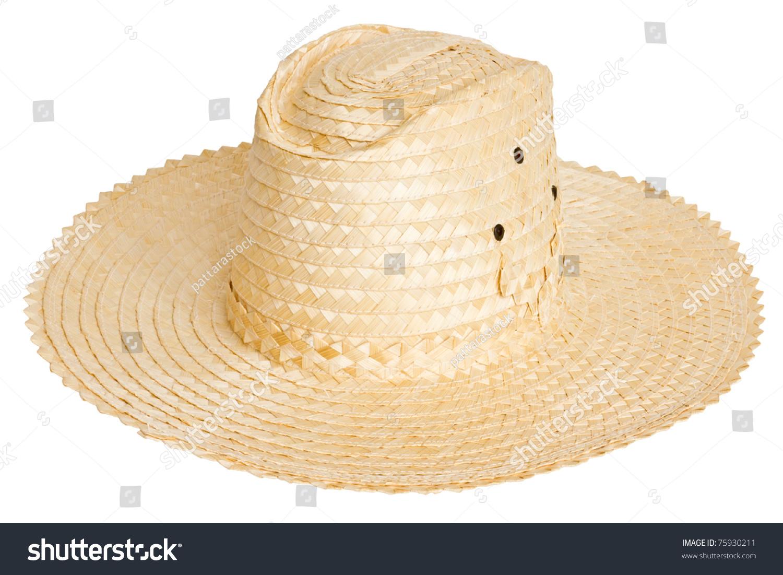 farmer hat on white background stock photo 75930211