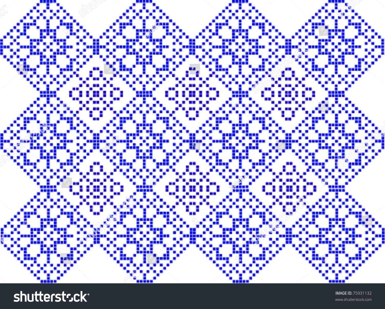Crochet Patterns Vector : Pattern To Crochet - Vector - 75931132 : Shutterstock