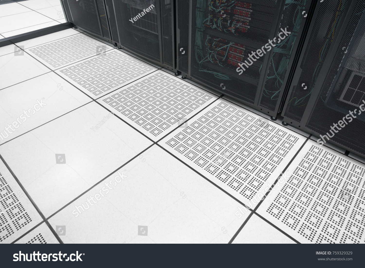 Closeup raised floor modern interior server stock photo 759329329 closeup raised floor in modern interior of server room in datacenter with empty area for text dailygadgetfo Gallery