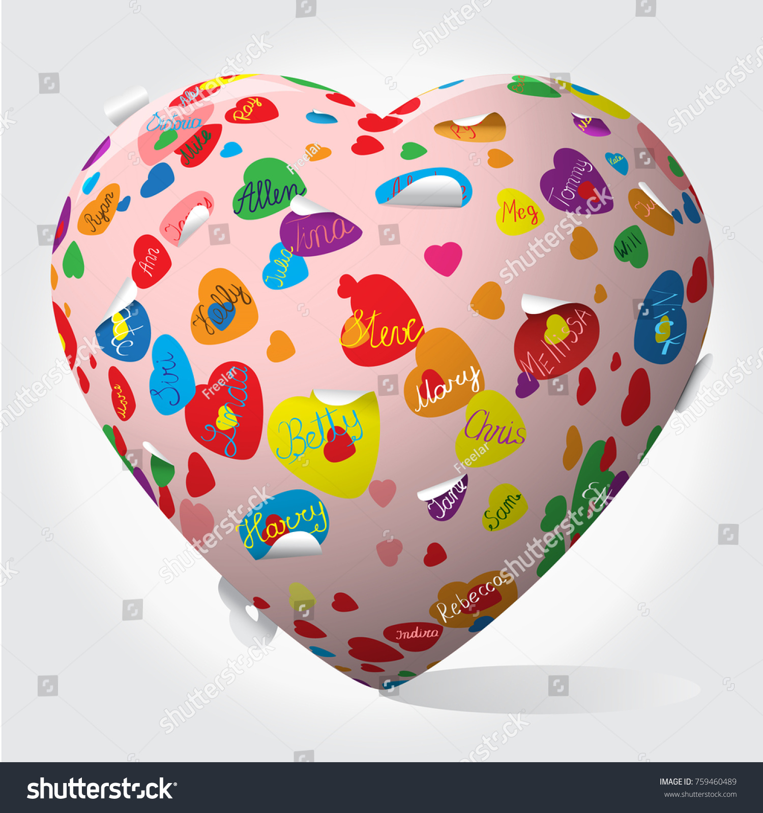 Heart Inflatable Pop Art Pattern Hearts Stock Vector Royalty Free