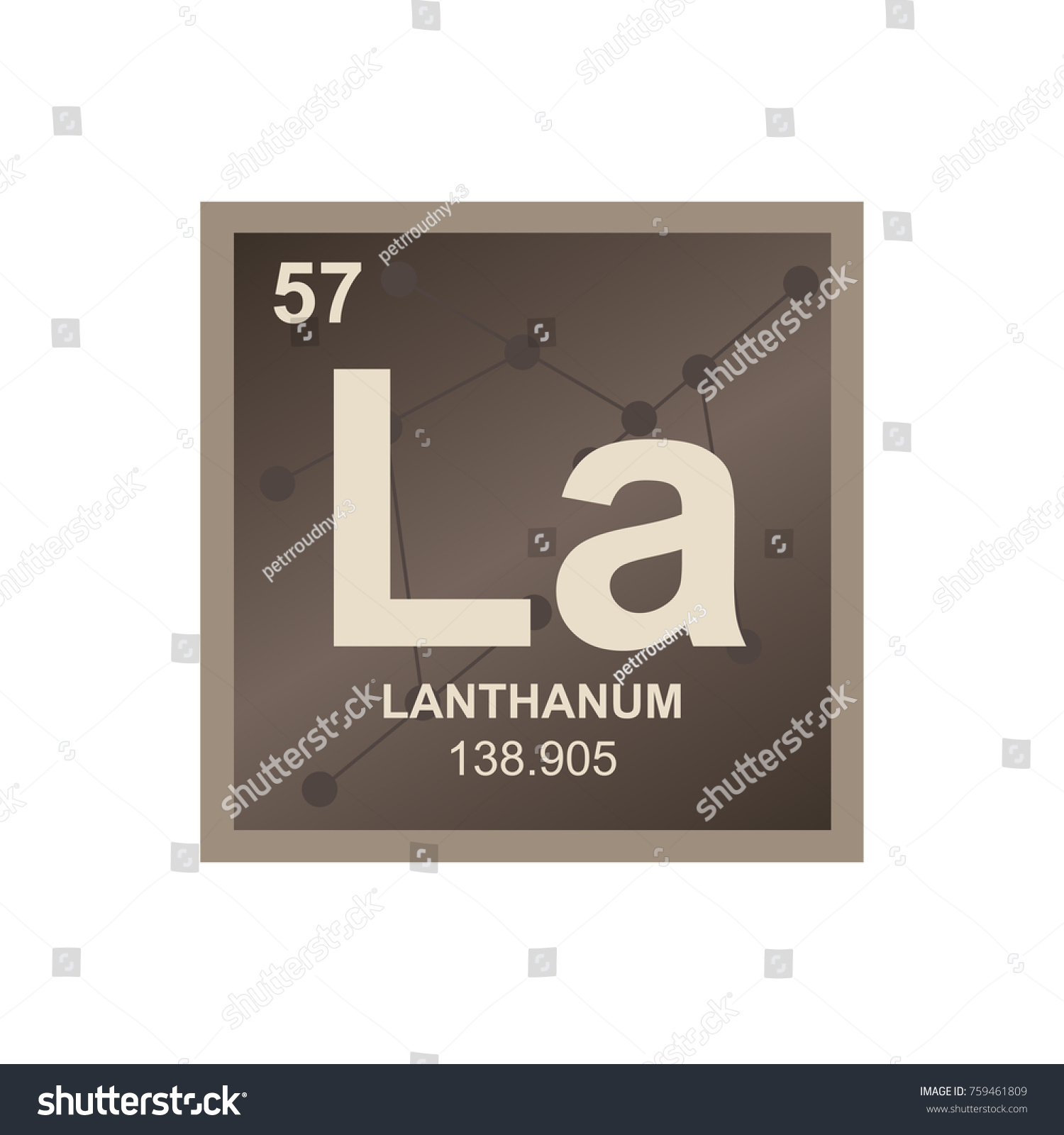 Vector symbol lanthanum periodic table elements stock vector vector symbol of lanthanum from the periodic table of the elements on the background from connected gamestrikefo Gallery