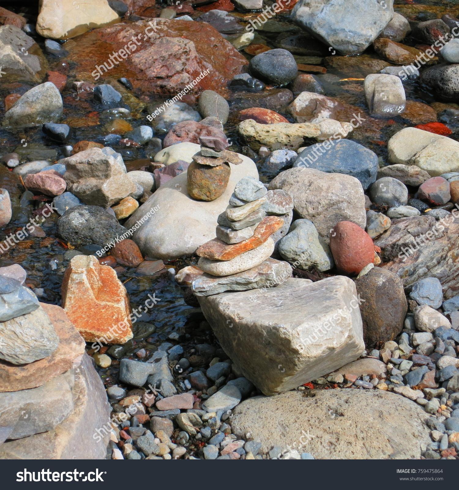 Rock Stacking Art Stock Photo Edit Now 759475864