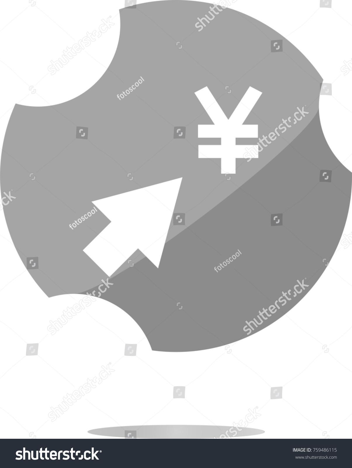 Yen currency symbol arrow web button stock illustration 759486115 yen currency symbol and arrow web button icon biocorpaavc