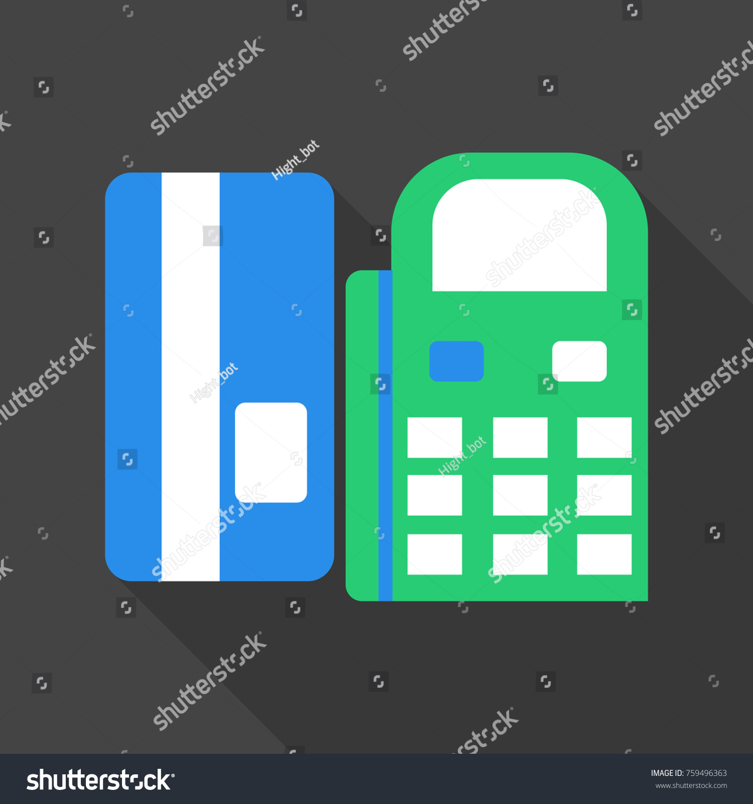 Terminal noncash payment payment using card stock vector 759496363 the terminal of non cash payment payment using the card pay by phone biocorpaavc