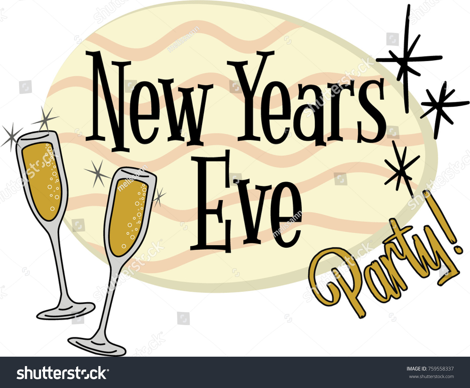New Years Eve Clip Art - Royalty Free - GoGraph