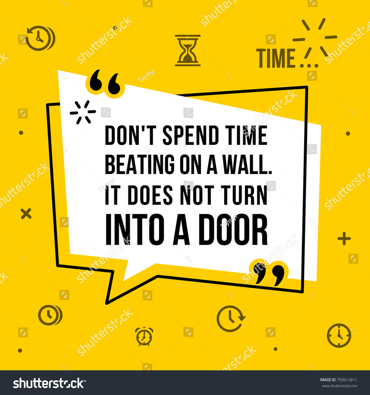 Vector Illustration Inspirational Motivational Quote Dont Stock ...