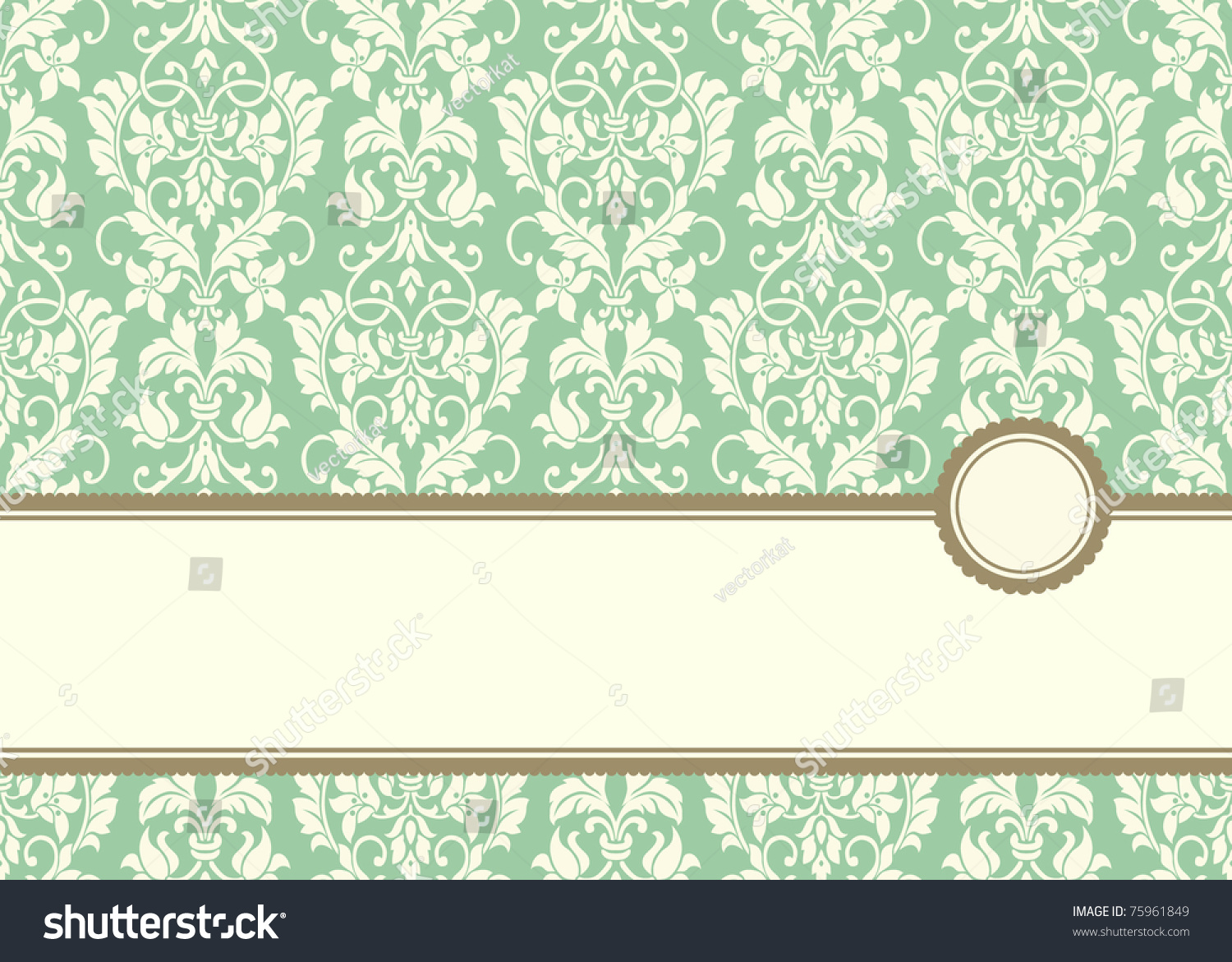 Vector Pastel Banner Frame And Background. Easy To Edit