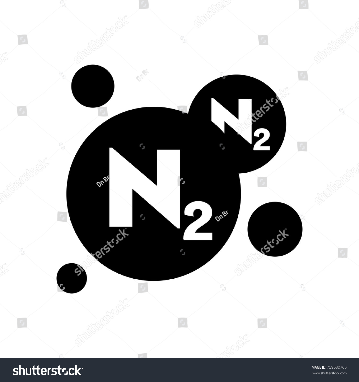 Nitrogen symbol chemical element stock vector 759630760 shutterstock nitrogen symbol chemical element buycottarizona