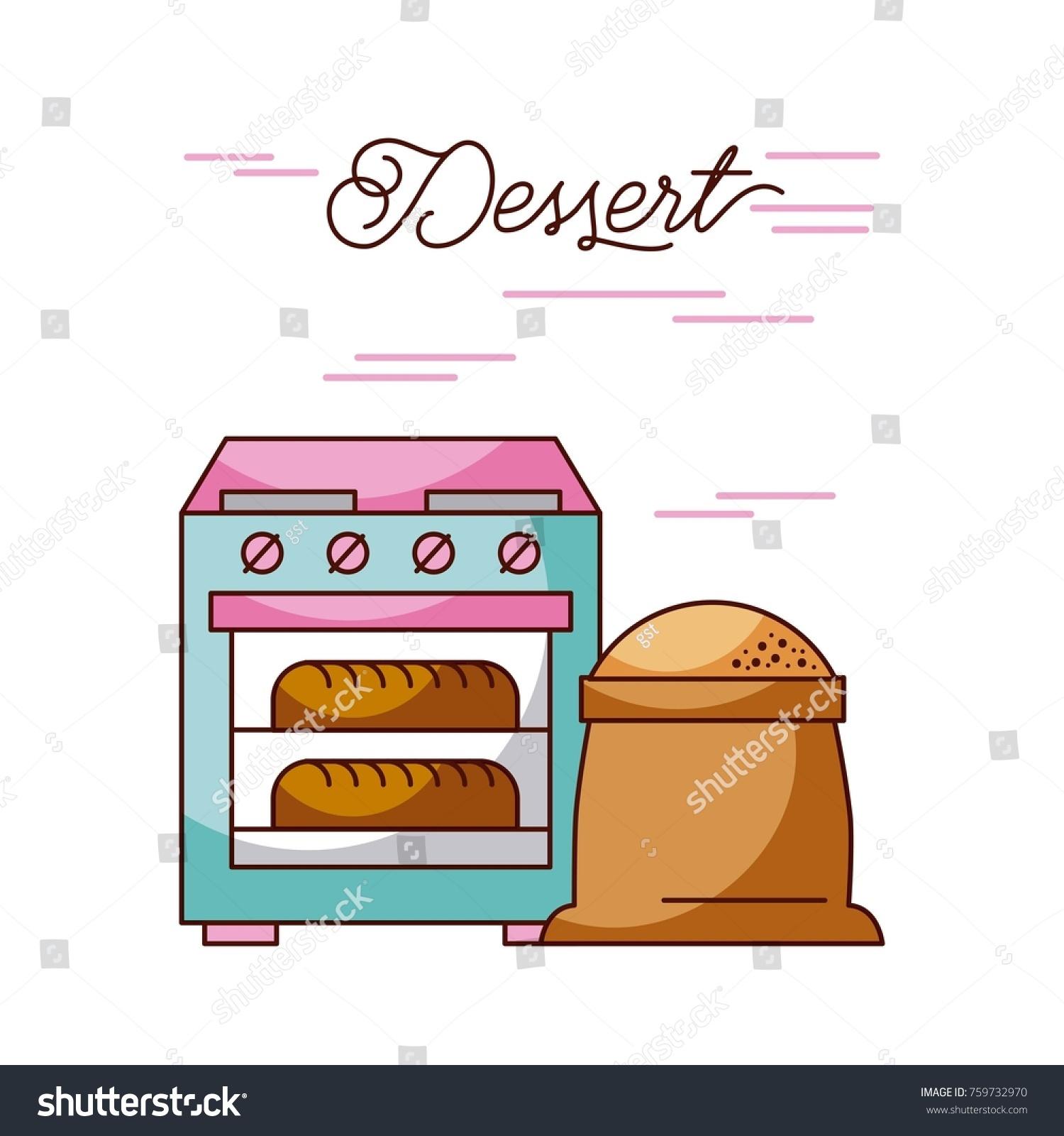 Bakery Stove Oven Two Hot Bread Stock Vector 759732970 - Shutterstock