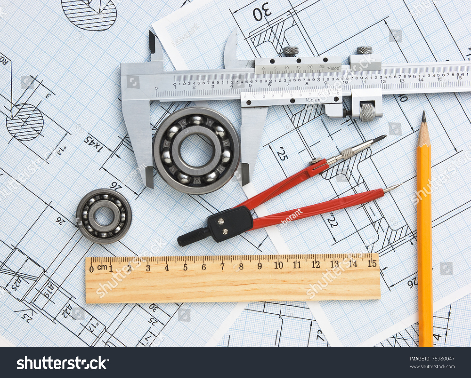 Technical Drawing Tools Stock Photo (Download Now) 75980047 ...