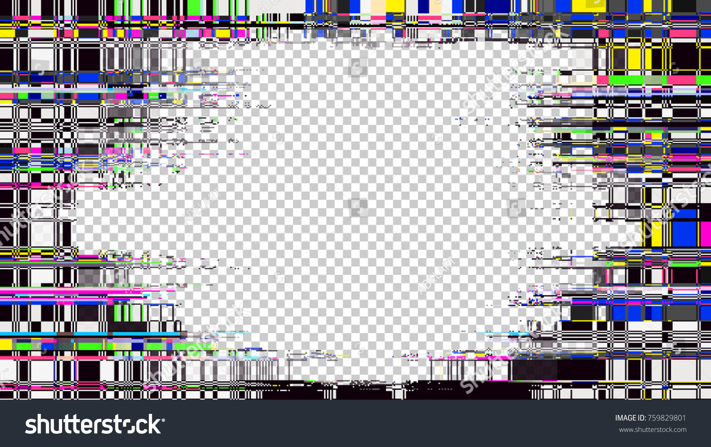 Glitch Frame Display Error Background Computer Stock-Vektorgrafik ...