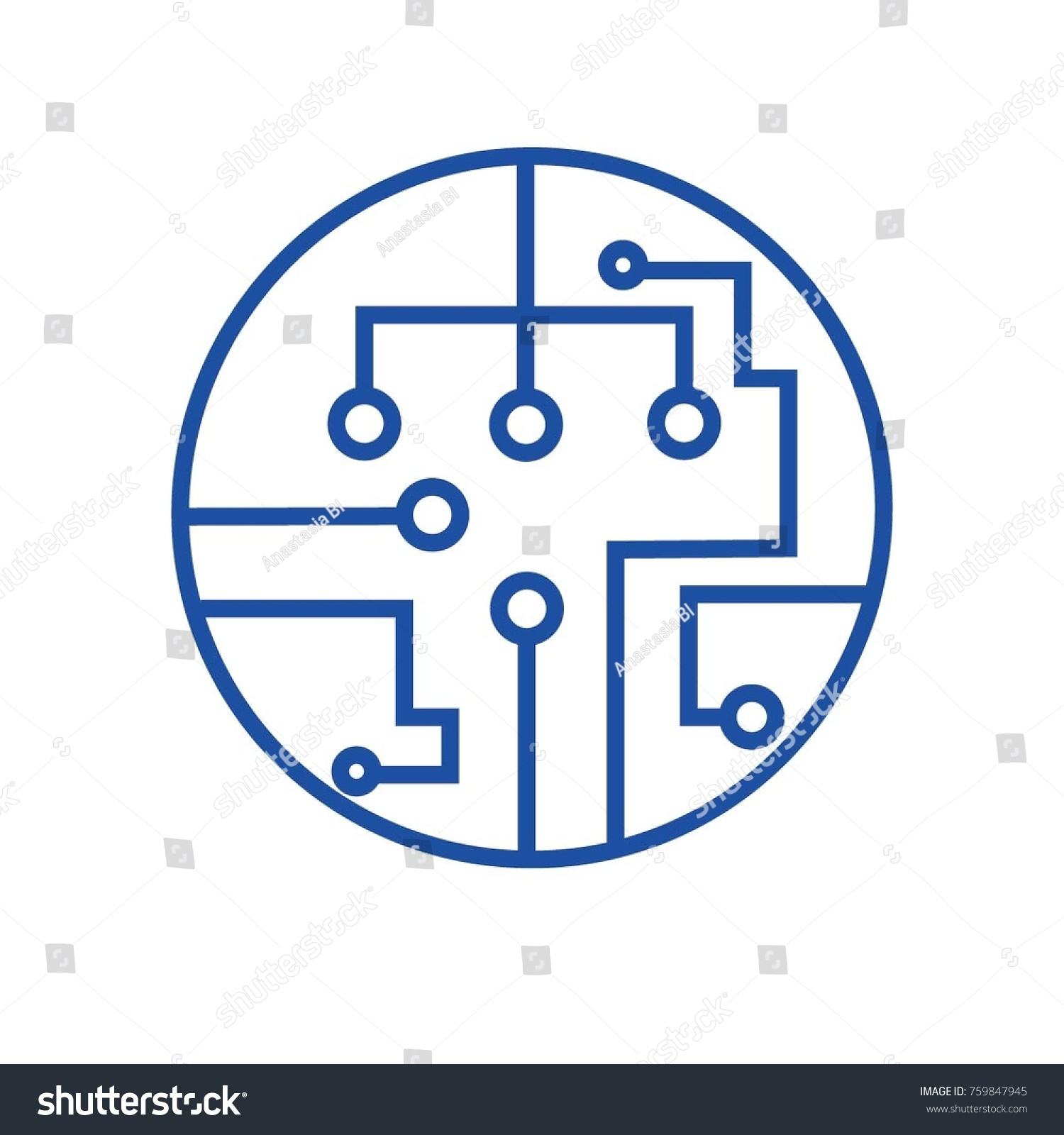 Circuit Board Icon Technology Symbol Sign Computer Stock Vector ...