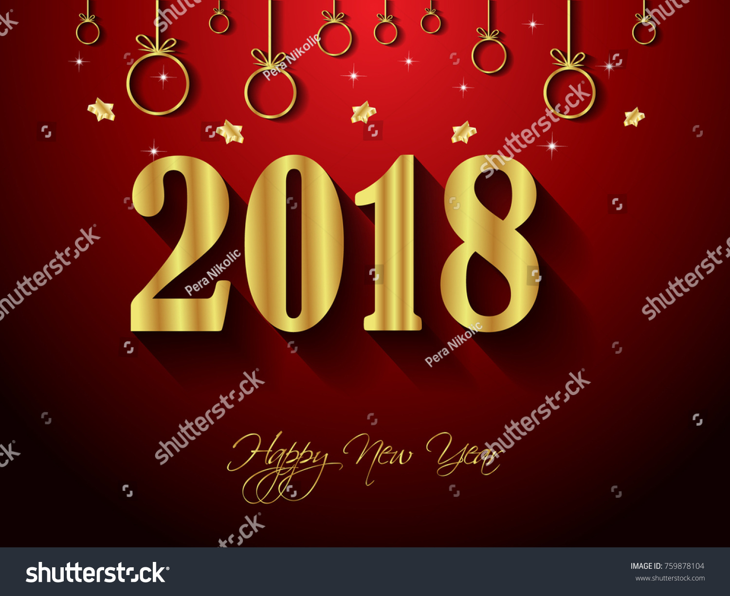 2018 Happy New Year Background Your Stock Vector Royalty Free