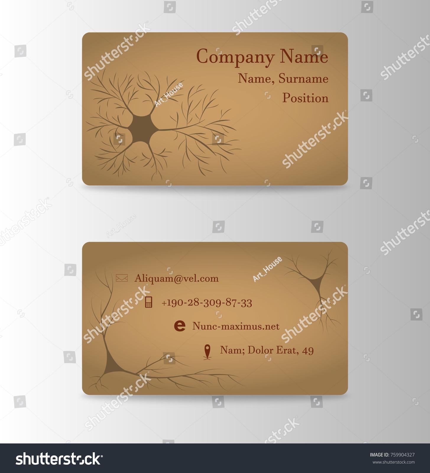 Neurosurgeon brain doctor business card stock vector 759904327 neurosurgeon or brain doctor business card magicingreecefo Images