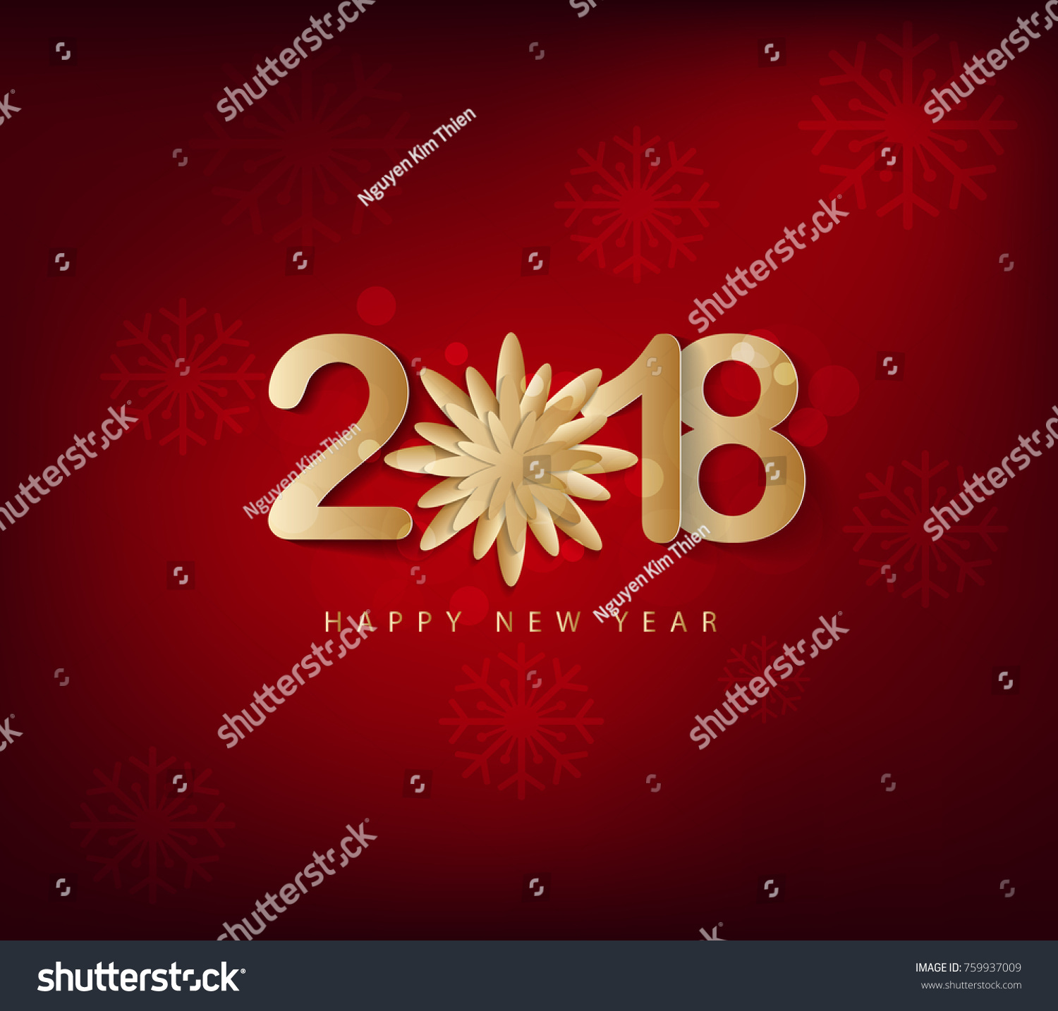 Happy new year 2018 greeting card stock illustration 759937009 happy new year 2018 greeting card and merry christmas chinese new year of the dog m4hsunfo