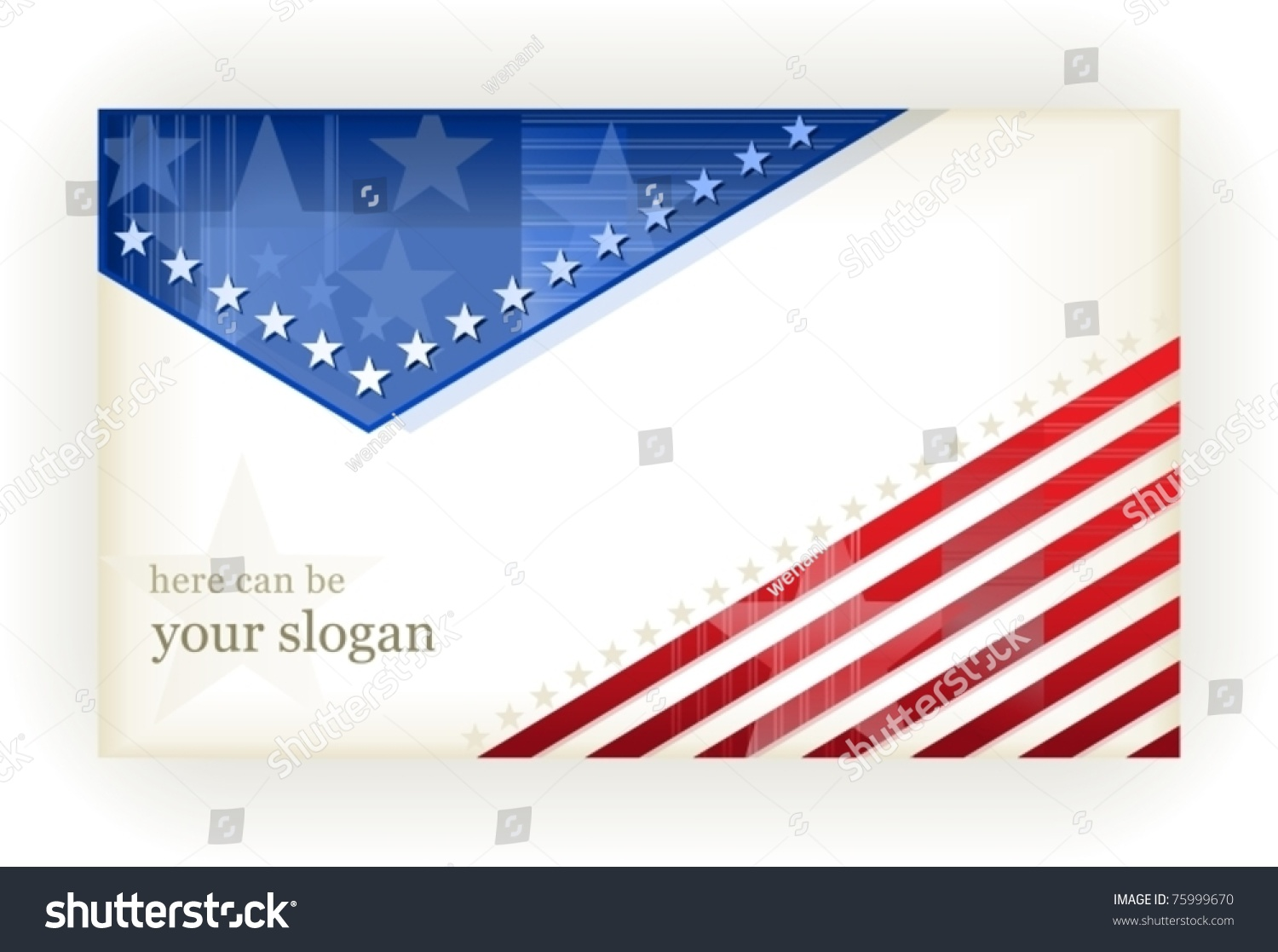 Us American Flag Themed Background Card Stock Vector 75999670 ...
