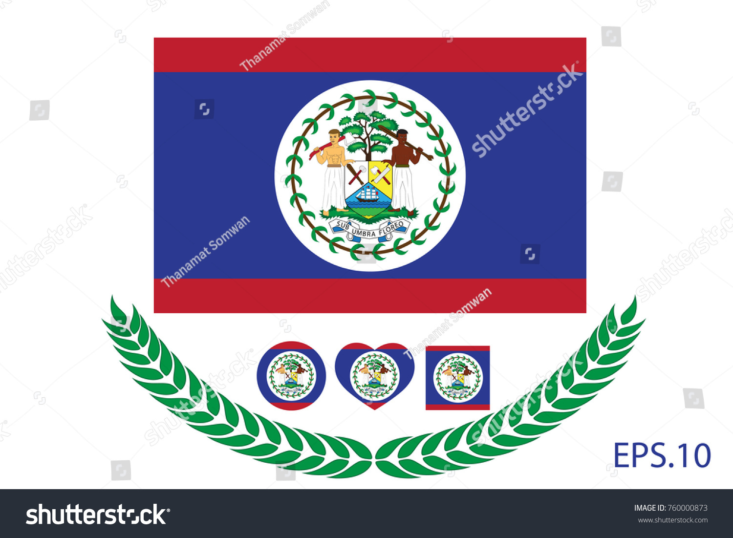 Official vector flag belize eps10 stock vector 760000873 official vector flag of belize eps10 biocorpaavc Image collections