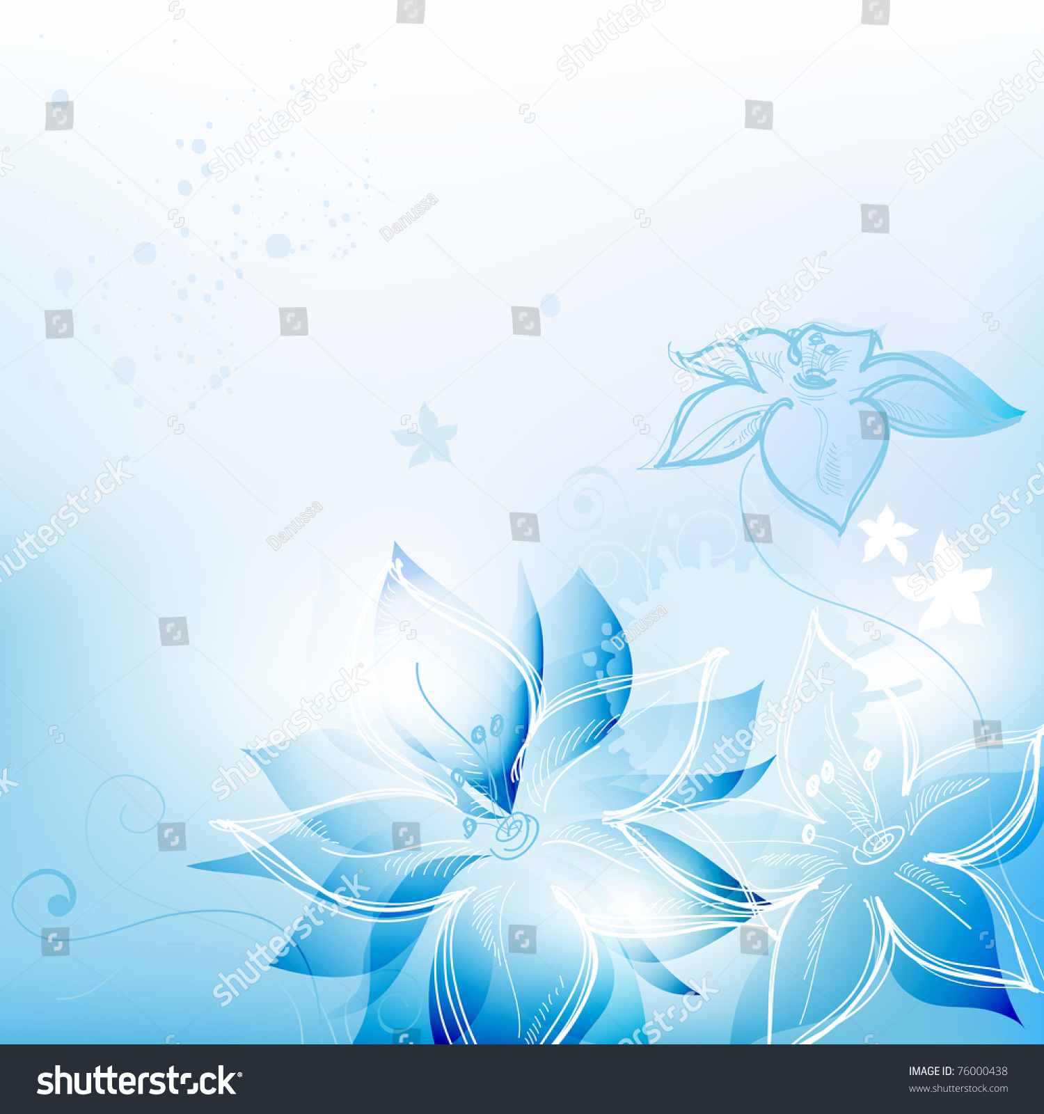 Blue Floral Background Stock Vector Royalty Free 76000438